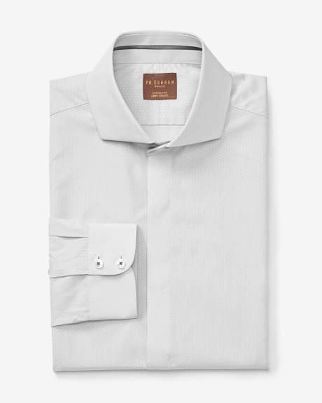 PK Subban Tailored Fit light grey dress shirt