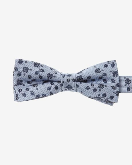 Classic Blue Floral Bow Tie