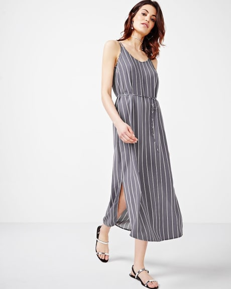 Striped Challis Maxi Dress