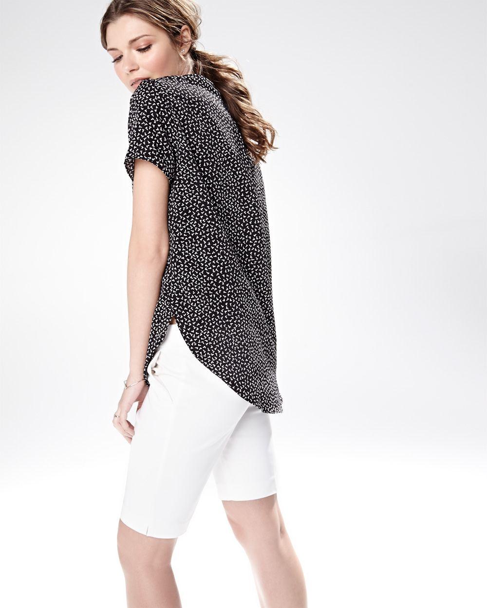 Zenobia Short Sleeve Printed Blouse 35