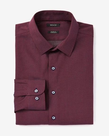 Tailored Fit Dobby Dress Shirt