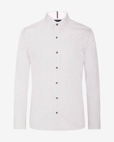 Slim Fit shirt in allover small triangle print