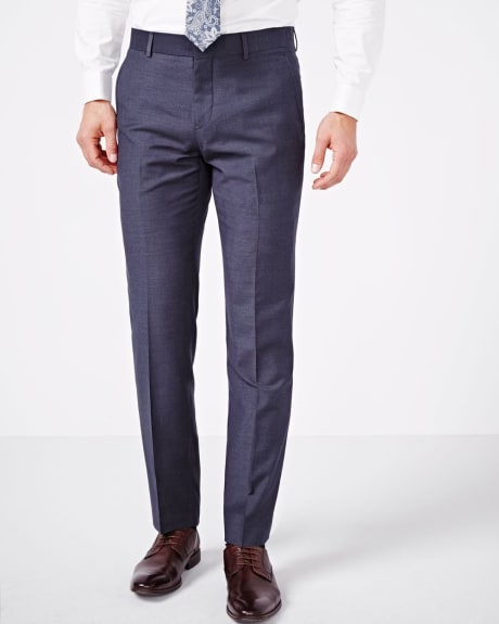 Tailored Fit Purple Blue Pant - Regular