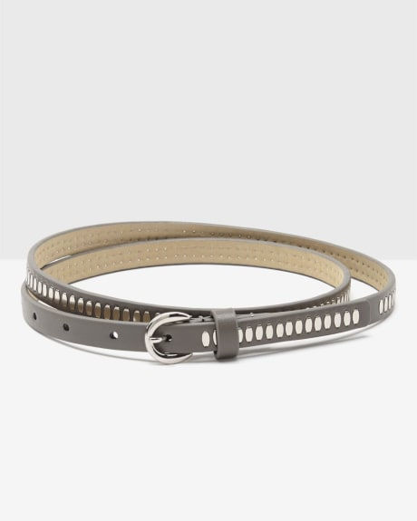 Women's Skinny Studded Belt