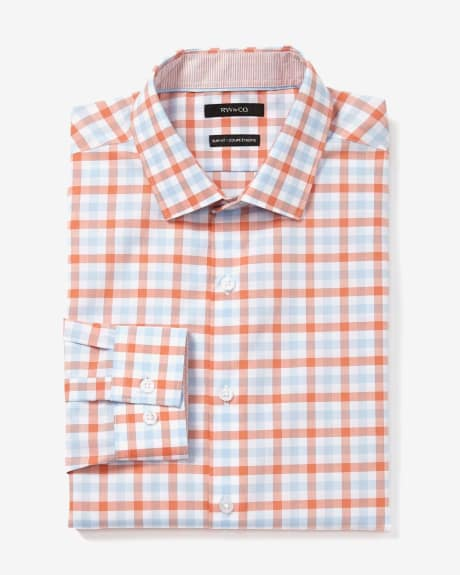 Slim Fit Bright Check Dress Shirt