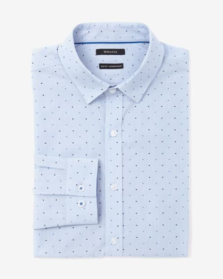 Slim Fit 2 Tone Dot Dress Shirt