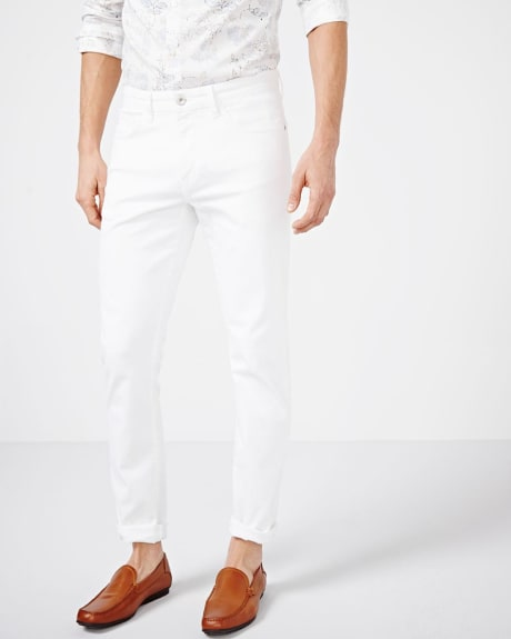 Slim Fit White Denim Jean
