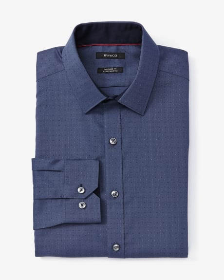 Tailored Fit Dotted Dobby Dress Shirt