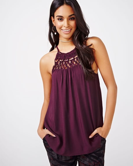 Halter Crocheted Cami Blouse