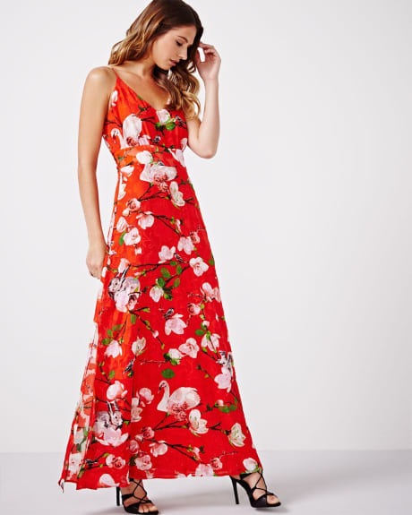 Maxi Dress with Waist Sash