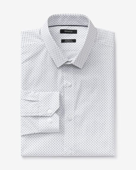 Tailored fit dress shirt with plus print