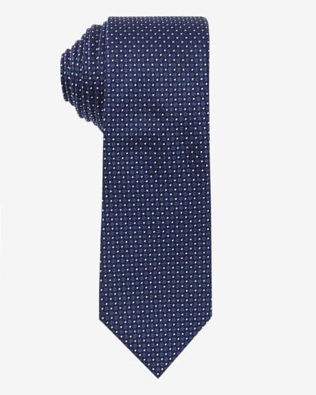 Regular Dotted Tie.Monaco blue.1SIZE