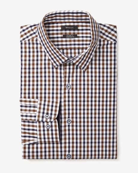 Tailored fit dobby check shirt