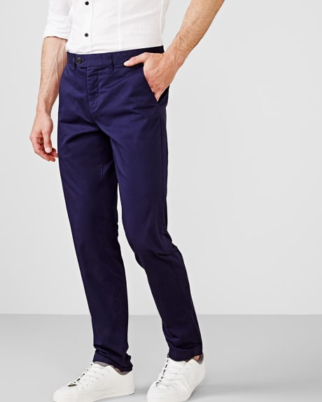 Slim fit slash pockets chino pant - 34 inseam