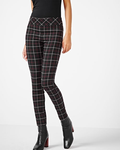 Modern Stretch Legging - Plaid Jacquard