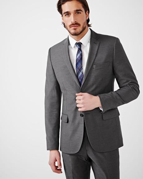 Tailored Fit Wool-Blend Blazer - Regular