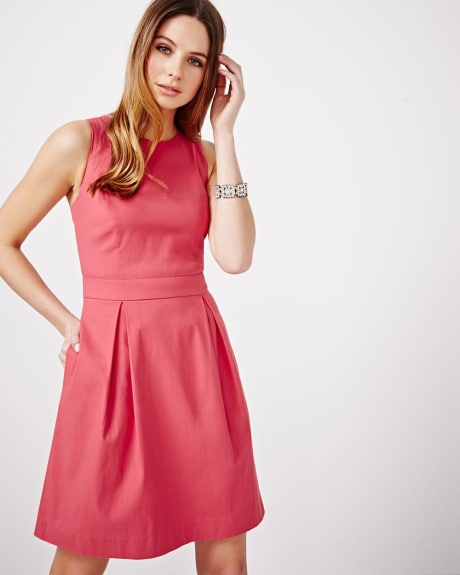 Modern Stretch Fit and Flare Dress