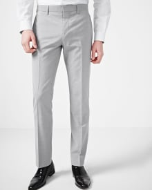 Tailored fit grey traveler pant - Regular