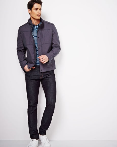 Two Tone Jacket.Navy.S