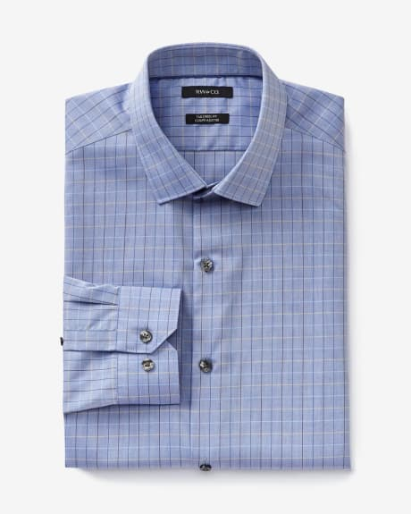 Tailored fit multicoloured window pane dress shirt