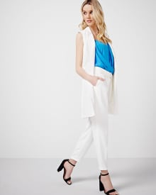Textured Pleated Pant with Cuff