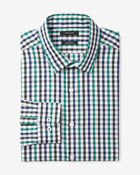 Athletic Fit multi check Dress Shirt
