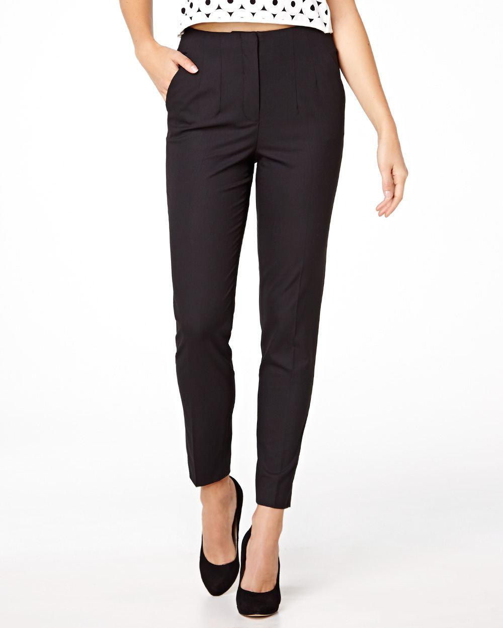 pantalon taille haute longueur cheville rw co. Black Bedroom Furniture Sets. Home Design Ideas