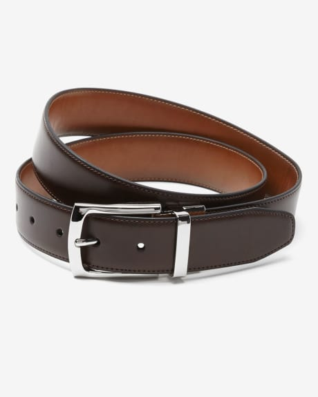 Reversible Brown Leather Belt