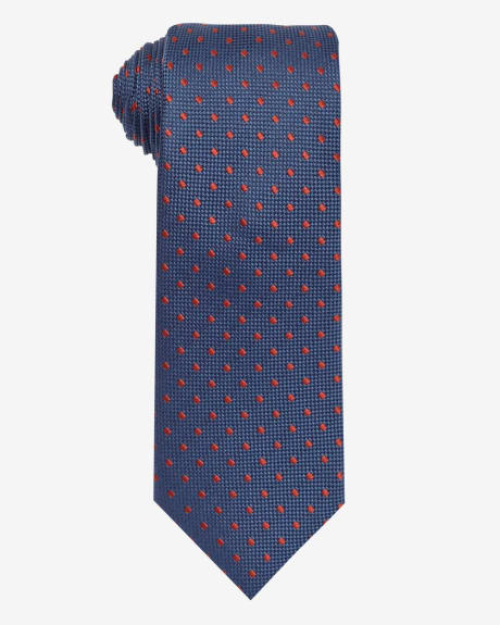 Wide Navy and Orange Tie