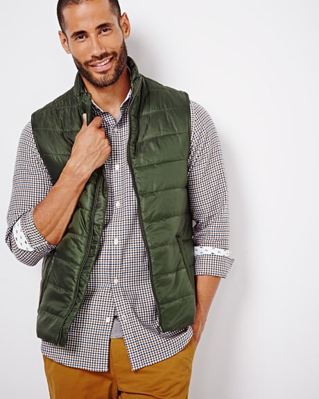 Quilted sleeveless vest