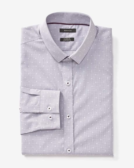 Tailored fit dobby micro check dress shirt