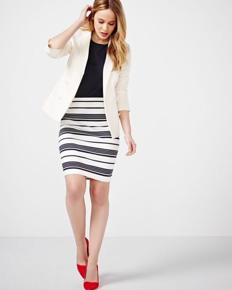 Modern Stretch Striped Skirt