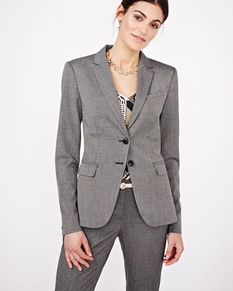 Everyday Stretch two-tone long Blazer