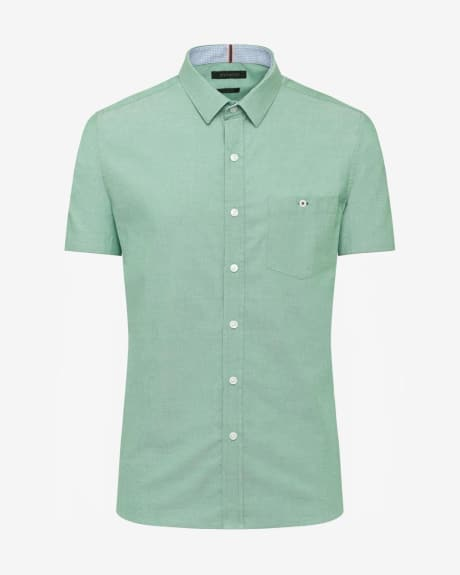 Short Sleeve tailored Fit two-tone Shirt