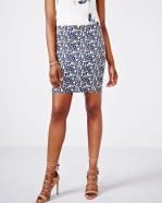 Geo Jacquard Short Skirt