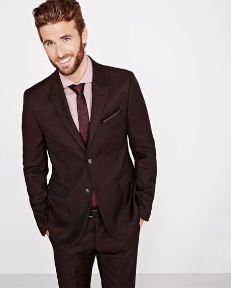 Slim Fit textured blazer in fig - Regular