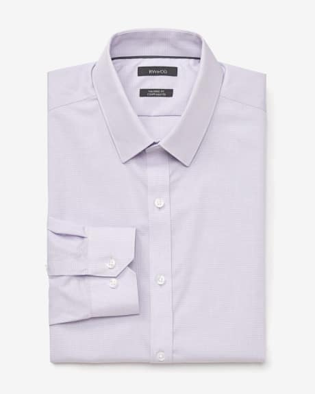 Slim fit two-tone dress shirt