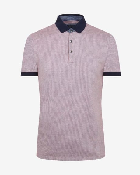 Jacquard polo t-shirt