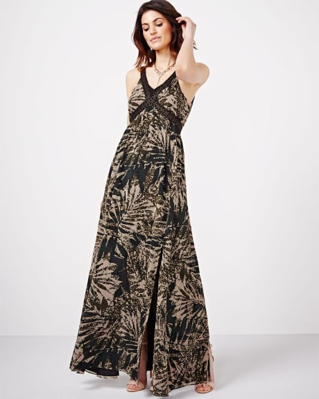 Maxi Dress with Contrast Straps
