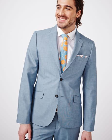 Light Blue Slim Fit Blazer