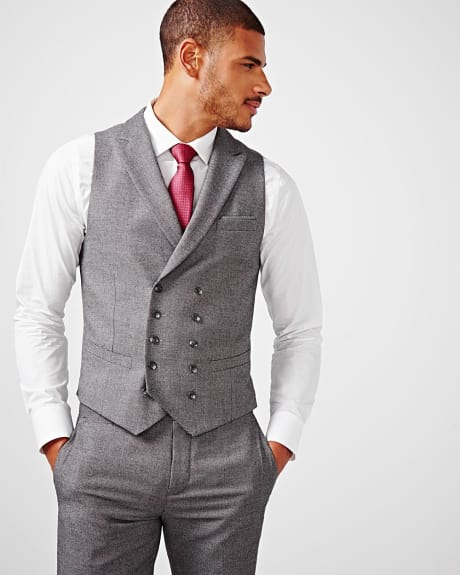 PK Subban Tailored fit tweed suiting vest