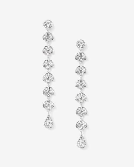 Elongated Crystal earrings