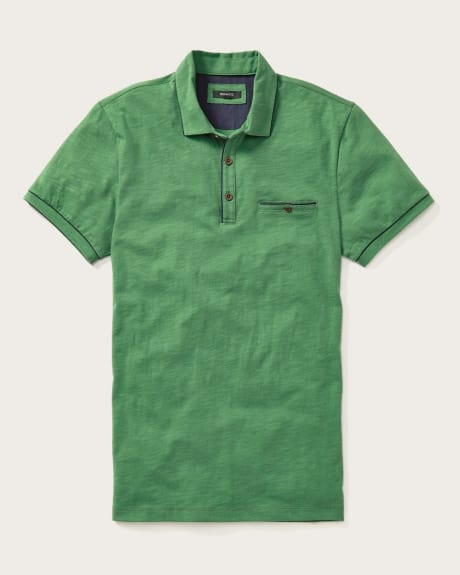 Essential short sleeve cotton blend polo