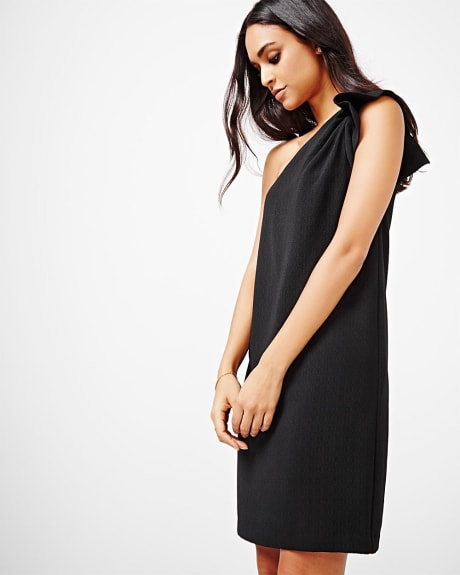 One shoulder shift dress