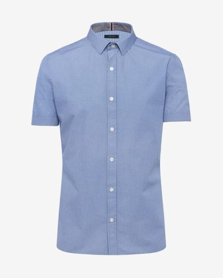 Short Sleeve Slim Fit Geo Print Shirt