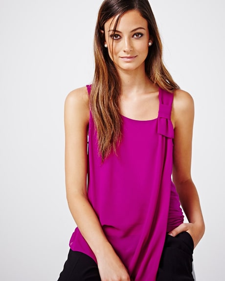 Sleeveless T-shirt with Bow
