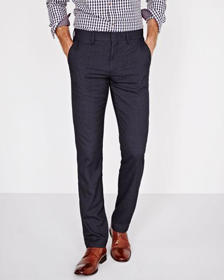 Tailored Fit Basket Weave City Pant