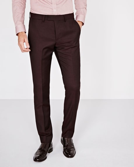 Pantalon texturé Coupe Étroite couleur figue
