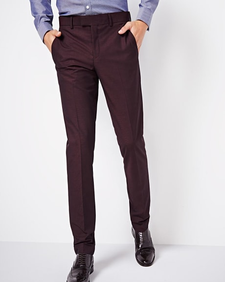 Slim fit burgundy pant - Regular