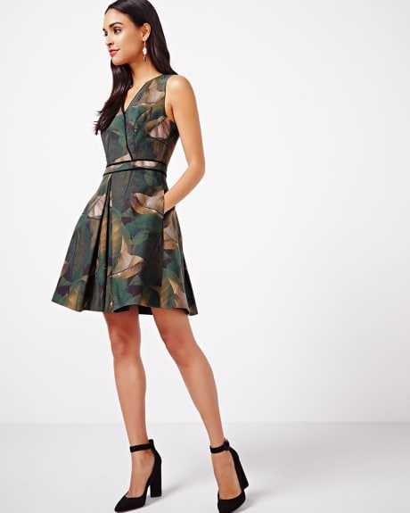 Fit and Flare Faux Wrap Dress